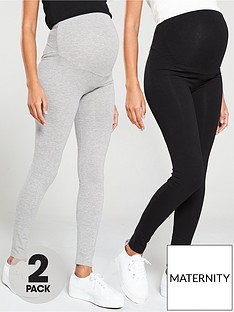 v-by-very-valuenbsp2-pack-maternity-legging-black-grey