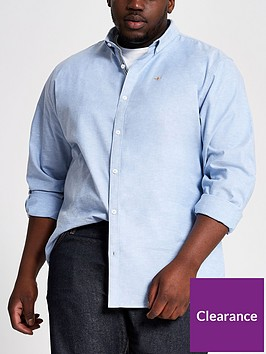 river-island-long-sleeve-light-blue-big-tall-oxford-shirt