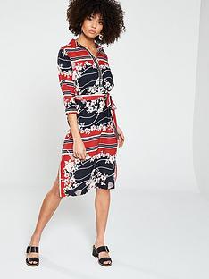 river-island-river-island-floral-scarf-print-shirt-dress--red