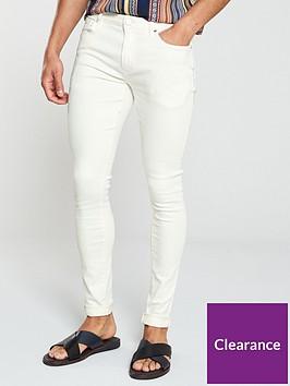 river-island-white-danny-super-skinny-jeans