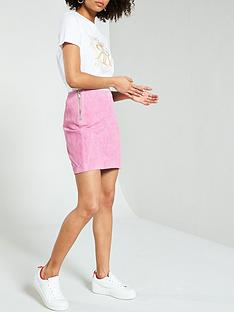 river-island-river-island-suede-side-zip-mini-skirt--light-pink