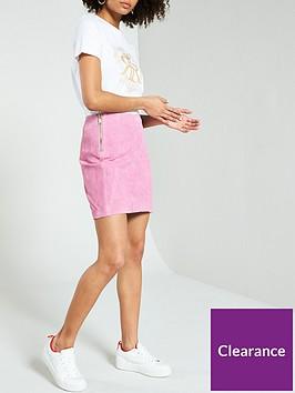 river-island-river-island-suede-side-zip-mini-skirt--light-pink