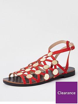 river-island-river-island-gladiator-stud-sandals-red