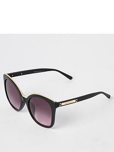 river-island-river-island-gold-trim-oversize-sunglasses-black