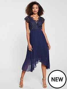 v-by-very-lace-pleatednbspoccasion-dress-navy