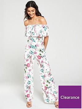 girls-on-film-floral-printed-bardotnbspwide-leg-jumpsuit-multiprintnbsp