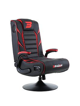 Product photograph showing Brazen Panther Elite 2 1 Bluetooth Gaming Chair - Black And Red