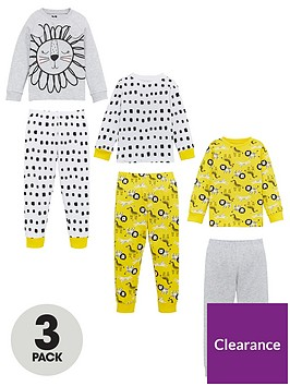 v-by-very-unisex-3-pack-mixed-animal-print-pyjamas-multi