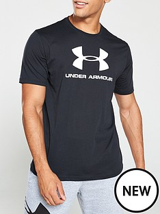 under-armour-sportstyle-logo-short-sleeve-t-shirt-blackwhite