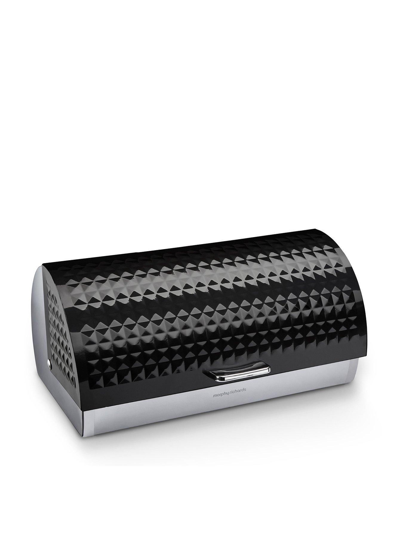 Food & Kitchen Storage Bread Bins Smart Bread Bin Stainless Steel Kitchen Storage Black Rose Gold Lid Roll Top