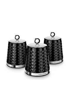morphy-richards-dimensions-set-of-three-storage-canisters-ndash-black