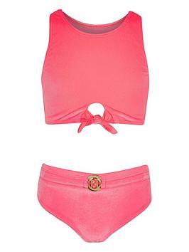 river-island-girls-velvet-knot-front-swim-set-pink