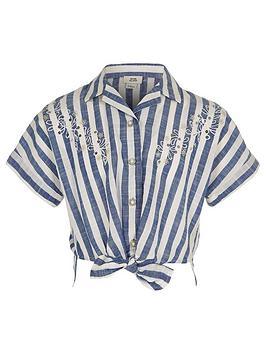 river-island-girls-stripe-tie-front-shirt-blue