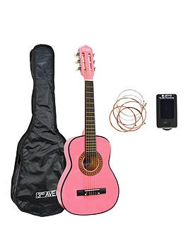 3rd Avenue 3Rd Avenue 3Rd Avenue 1/4 Size Classical Guitar Pack - Pink  ... Picture