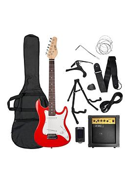 Rocket    3/4 Size Electric Guitar In Red With Free Online Music Lessons