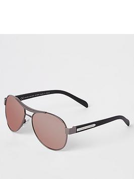 river-island-boys-aviator-pink-lens-sunglasses-black