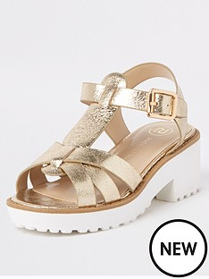 river-island-girls-metallic-clumpy-sandals-gold