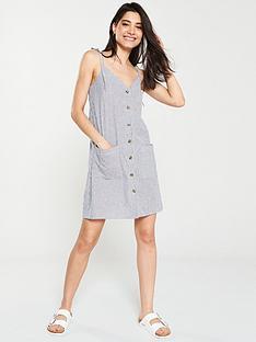 warehouse-stripenbspcami-dress-black-white