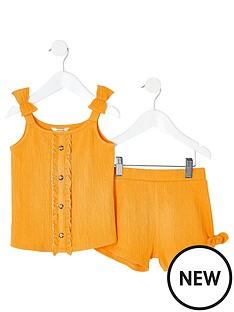 river-island-mini-mini-girls-shirred-cami-outfit-yellow