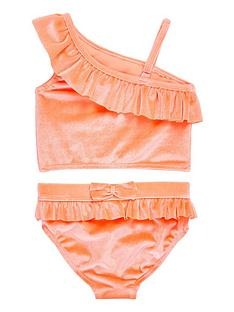 river-island-mini-girls-coral-one-shoulder-tankini-set