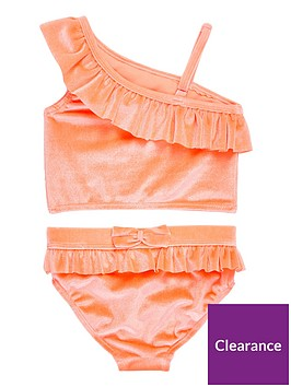 river-island-mini-girls-coral-one-shoulder-tankini-set