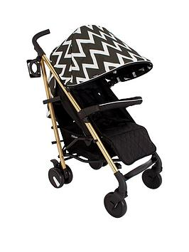 My Babiie My Babiie Mb51 Gold Edition Chevron Stroller Picture