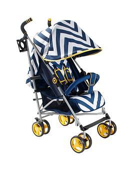 my-babiie-mb02-blue-chevron-stroller