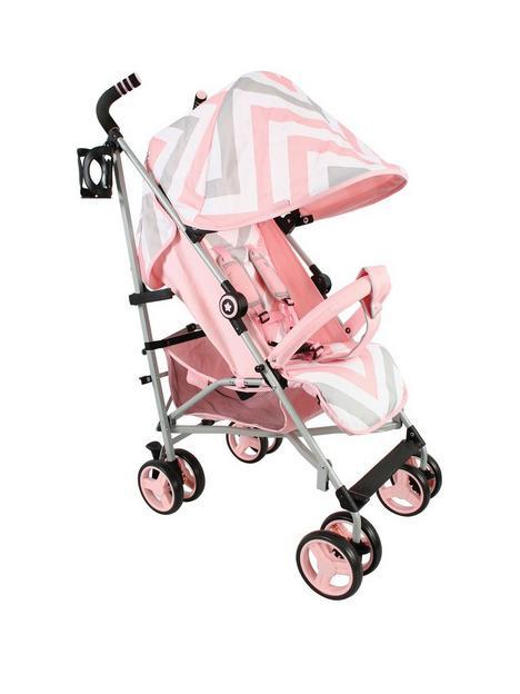 my-babiie-mb02-pink-chevron-stroller