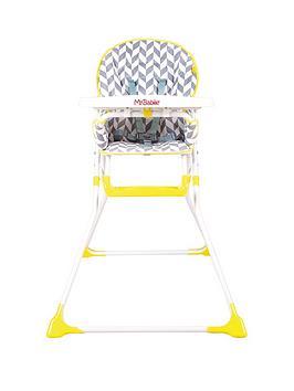 my-babiie-mbhc1hb-herringbone-compact-highchair