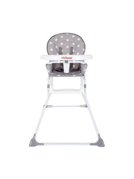 my-babiie-mbhc1gs-grey-stars-compact-highchair