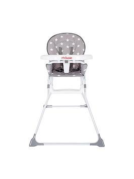 my-babiie-my-babiie-mbhc1gs-grey-stars-compact-highchair