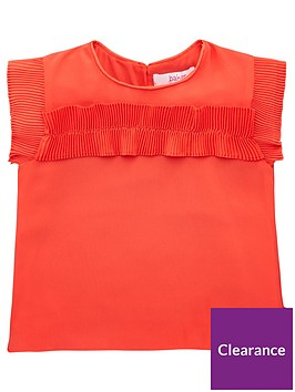 baker-by-ted-baker-girls-plisse-frill-top-red