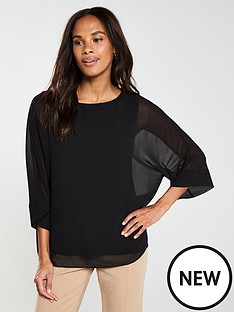 wallis-sheer-kimono-sleeve-overlayer-top-black