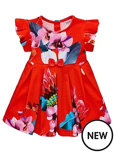 31868b7c0c92 Baker by Ted Baker Baby Girls Floral Jersey Dress - Red
