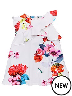 0ea7749ff Baker by Ted Baker Toddler Girls Floral Frill Jersey Dress - Off White