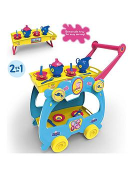 Very Bildo Peppa Pig Tea Set & Serving Trolley Picture