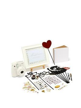 Fujifilm Instax Fujifilm Instax Instax Wedding Bundle + Mini 9 White Camera Picture