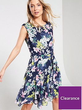 wallis-wallis-pretty-magnolia-fit-flare-dress