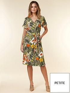 wallis-wallis-petite-tropical-jungle-shirt-dress