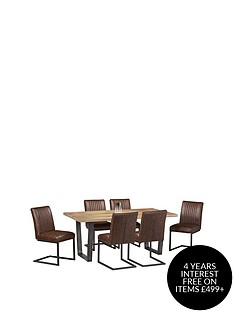 julian-bowen-brooklyn-180-cm-solid-oak-and-metal-dining-table-6-chairs