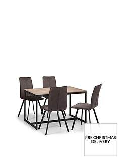 julian-bowen-tribeca-120-cm-dining-table-4-monroe-chairs