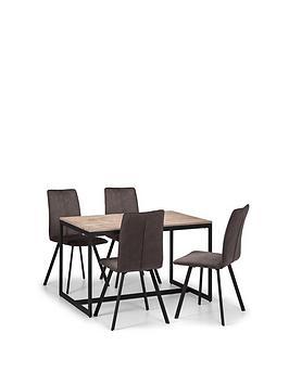 julian-bowen-tribeca-120-cm-dining-table-4-monroe-chairs