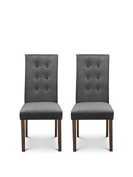 Julian Bowen Julian Bowen Pair Of Madrid Velvet Dining Chairs Picture