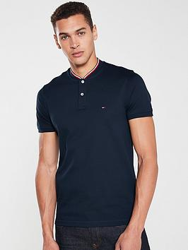 tommy-hilfiger-contrast-collar-polo-shirt-navy
