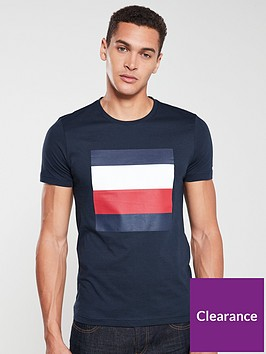 tommy-hilfiger-printed-box-logo-t-shirt-navy