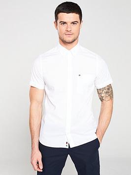tommy-hilfiger-slim-short-sleeve-poplin-shirt-white
