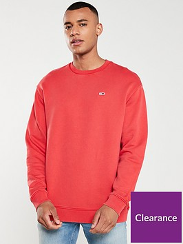 tommy-jeans-washed-crew-neck-sweatshirt-red