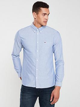 Tommy Jeans Tommy Jeans Logo Oxford Shirt - Blue Picture