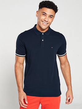 tommy-hilfiger-tipped-logo-polo-shirt-navy