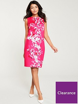wallis-magnolia-scuba-shift-dress-pink